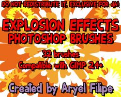 Explosion Effects PS Brushes 1 by TheSharkMaster