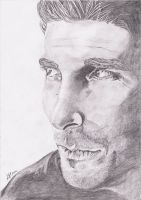 Christian Bale by Martin-Luure