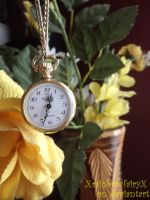 Flowers and pocket watch by XrainbowfairyX