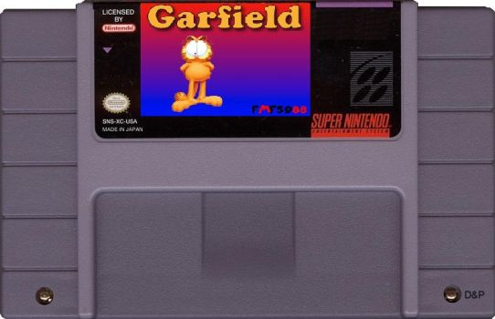 Garfield (SMW Hack) SNES Cartridge by DerekAutistaFMF5988