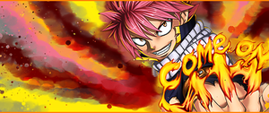 Come On Natsu Fairy Tail Tag by DragonZekrom
