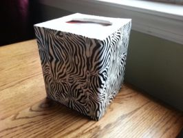 Zebra Tissue Holder by DuctileCreations