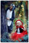 Little Red Riding Hood and gray wolf by MisaKaterina