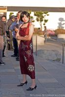 Ada Wong Scoping out Japantown by Stormfalcon