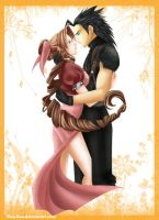 Aerith+Zack- by MaySan by FirstxLove