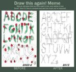 Before and After meme 2- Rose Letters by mythcraze776