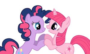 Twilight and Pinkie Pie recolored by nejcrozi