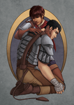 Berserk - Casca and Guts by muepin