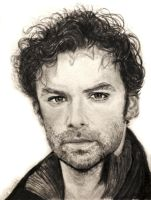 Aidan Turner Pencil Drawing by shuckaby