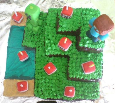 Minecraft Cake 3 by Aranel-Inglorion