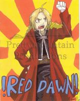 Edward Elric - Red Dawn by prettymountain
