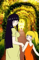 Hinata and Sachi by Kaie13
