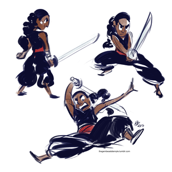 Connie the Swordfighter by Rhandi-Mask