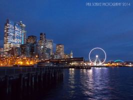Twilight At Seattle Waterfront by SilentMobster42