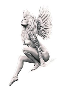 Even Angels wear tattoos by DiRi
