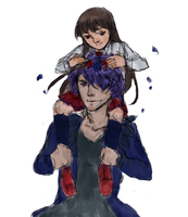 Fanart : Ib and Garry (Collab with my sister.) by Inuite
