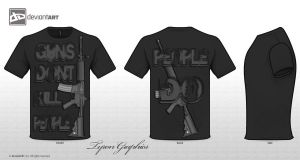 my t-shirt design guns dont kill people people do by mademyown
