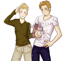 NIALL HORAN AND DOUGIE POYNTER by Melancholy-Puppet