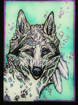 Wolf ATC by whitew3r3wolf