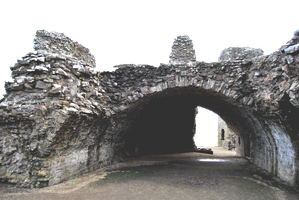 Castle Tunnel Ruin.. by WelshDragonStockNArt