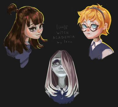 Little Witch Academia girls by lxvii-art