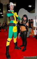 Rogue (Gender bent version) and X-23 by bear213