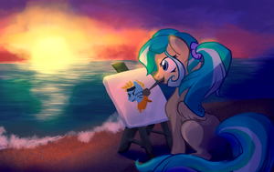 Painting Waves by Bedupolker