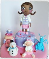 Doc McStuffins cake I by Dyda81