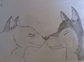 Wolf Love Three by Metalarchangel