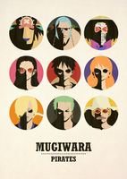 One Piece Minimalist Poster: Mugiwara Pirates v2 by MinimallyOnePiece