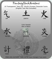 Avatar: Chinese Characters 5 by FantasyStockAvatars