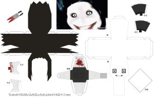 Creepypasta Papercraft Jeff The Killer by SumatraDjVero