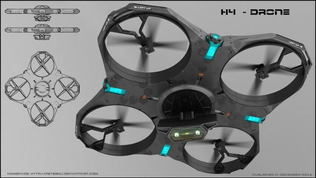 H4 - Hydrogen powered drone by peterku