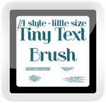 .Br. Tiny Text Brushes by JaylerFox