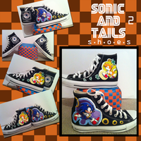 Sonic 2 shoes by JovialNightz