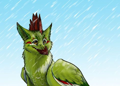 Gryphon in cold weather by dorini