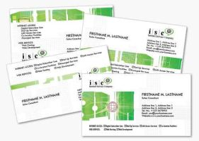 4 Green Computer Business Cards Templates by fiftyfivepixels