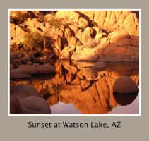 Sunset at Watson Lake, AZ by Ravenhaven