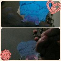 Cut out girl on my finger. by HelloThereLovelyKids