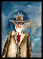 Sigmund Freud's 151 birthday by gapinska