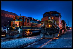 BNSF 2087 and 5325 by kc7eph