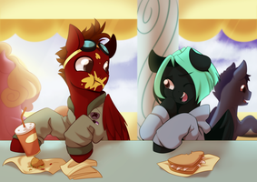 Comm: Lunch Time by MylittleSheepy