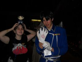 I got a pic with Roy Mustang by Lunarie334