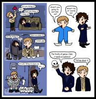 Sherlock doodles: A Funny Pair by blackbirdrose