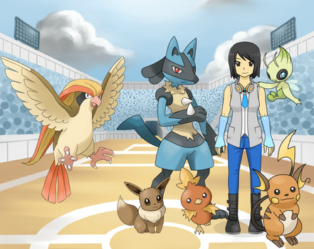 Me as a Pokemon Trainer/Pokemon Champion ver2 by YuGiOh5DsDuelist