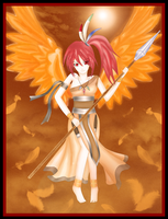 Fire Element-The Phoenix Angel by lazy-moon-angel