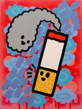 Super Happy Lung Cancer by popartmonkey