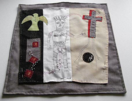 Outsider art wall hanging by theseventhmagpie