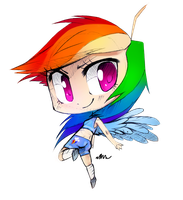 Chibi Rainbow dash by Affanita