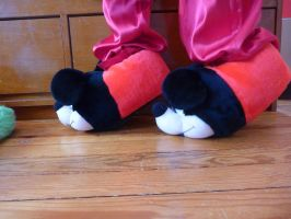 Mickey Mouse slippers, side by ExileLink